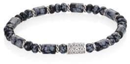 John Hardy Batu Obsidian & Sterling Silver Classic Chain Beaded Bracelet