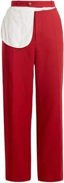 Joseph Alta split-waist wide-leg wool trousers