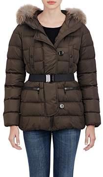 Moncler Women's Genette Fur-Trimmed Puffer Jacket