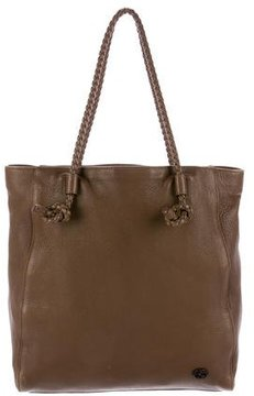 Gucci Braided Leather Tote - BROWN - STYLE