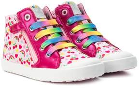 Geox printed hi-top sneakers