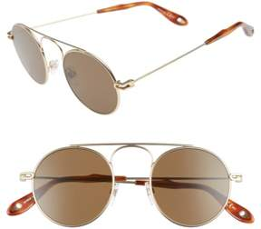 Women's Givenchy 48Mm Round Sunglasses - Gold