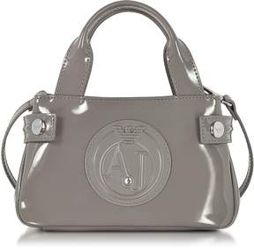 Armani Jeans Signature Mini Patent Leather Tote Bag