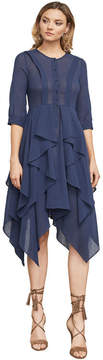 BCBGMAXAZRIA Jovita Asymmetrical Ruffle Dress