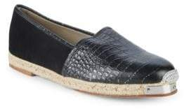 Giuseppe Zanotti Embossed Leather Slip-On Espadrilles