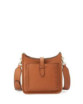 Rebecca Minkoff Small Unlined Whipstitch Leather Feed Bag - LIGHT BROWN - STYLE