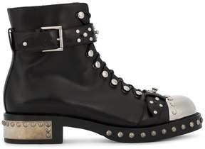 Alexander McQueen Black Studded Ankle Boots