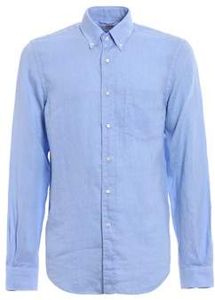 Aspesi Men's Light Blue Linen Shirt.