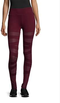 Electric Yoga Women's Ballerina Lace Ups Leggings - Red, Size x-large