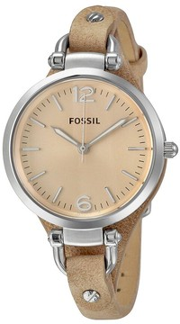 Fossil Georgia Beige Dial Sand Tan Leather Ladies Watch