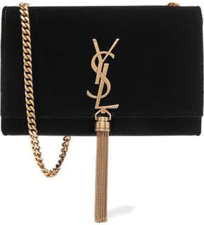 Saint Laurent - Monogramme Kate Velvet Shoulder Bag - Black