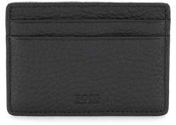HUGO BOSS Leather Card Holder Traveller S Card One Size Black