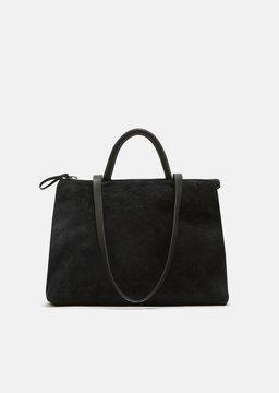 Marsèll 4 Dritta Distressed Suede Bag Vit Rov Ras Nero Size: OS