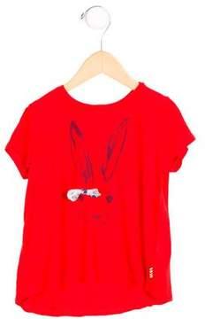 Paul Smith Girls' Rabbit Print Bow-Adorned Top