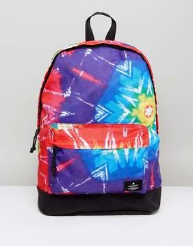 Asos FESTIVAL Backpack In Bright Tie Dye Design