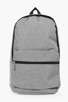 boohoo Black Textured Backpack