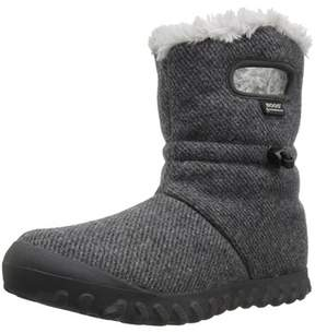 Bogs Womens Bmoc Wool Faux Fur Closed Toe Mid-calf Cold Weather Boots.
