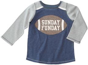 Mud Pie Football Sunday Funday Long Sleeve Shirt Boy's Clothing