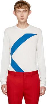 Calvin Klein White Long Sleeve Logo T-Shirt