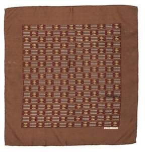 Hermes Les Cles Silk Pocket Square