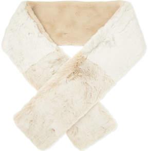 Maje Two-tone faux-fur scarf