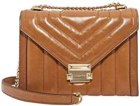 Michael Kors Whitney Large Quilted Leather Shoulder Bag-Acorn
