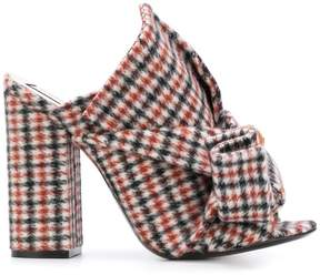No.21 checked sandals