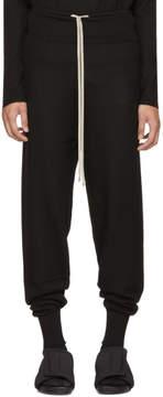 Rick Owens Black Prisoner Drawstring Lounge Pants