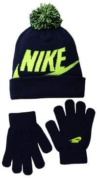 Nike Swoosh Pom Beanie Gloves Set Beanies