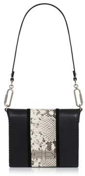 Amanda Wakeley Black Natural Python Costello Bag
