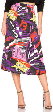 MSGM Multi Color Print Skirt