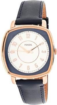 Fossil Women's Idealist ES4197 Blue Leather Japanese Quartz Fashion Watch
