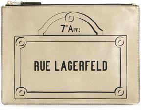 Karl Lagerfeld Rue Lagerfeld clutch bag