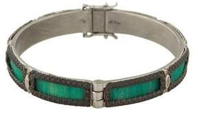 Armenta Diamond & Sapphire Mosaic Bangle Bracelet