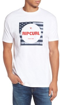 Rip Curl Men's Born In The Usa Logo Graphic T-Shirt