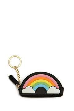 Forever 21 Rainbow Graphic Coin Purse