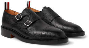 Thom Browne Pebble-Grain Leather Monk-Strap Shoes