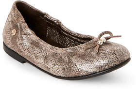 Naturino Toddler/Kids Girls) Beige Snake-Inspired Print Flats