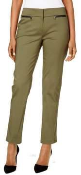 Nine West Women's Zip-Pocket Slim Straight-Leg Pants
