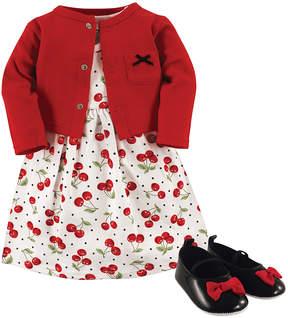Hudson Baby Red Cherries Dress Set - Newborn & Infant