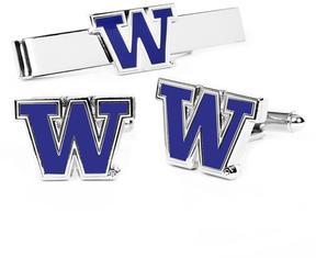Ice University of Washington Cufflinks and Tie Bar Gift Set