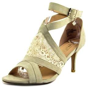 Nanette Lepore Bliss Women Open-toe Canvas Ivory Heels.