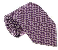 Missoni U5093 Purple/silver Nailshead 100% Silk Tie.