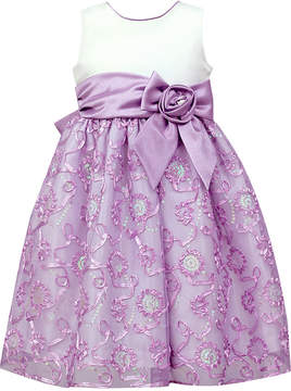 Jayne Copeland Satin Soutache Sequin Dress, Toddler Girls