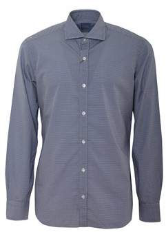Barba Men's Blue Cotton Shirt.