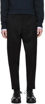 Marni Black Wool Cropped Trousers