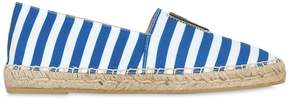 Karl Lagerfeld 20mm Striped Cotton Canvas Espadrilles