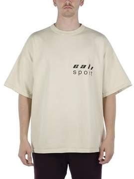 Yeezy Men's Beige/grey Cotton T-shirt.