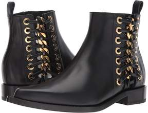 Alexander McQueen Braided Chain Ankle Boot Women's Shoes