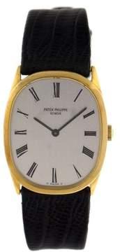 Patek Philippe Patek Phillipe 18k Yellow Gold Oval Watch